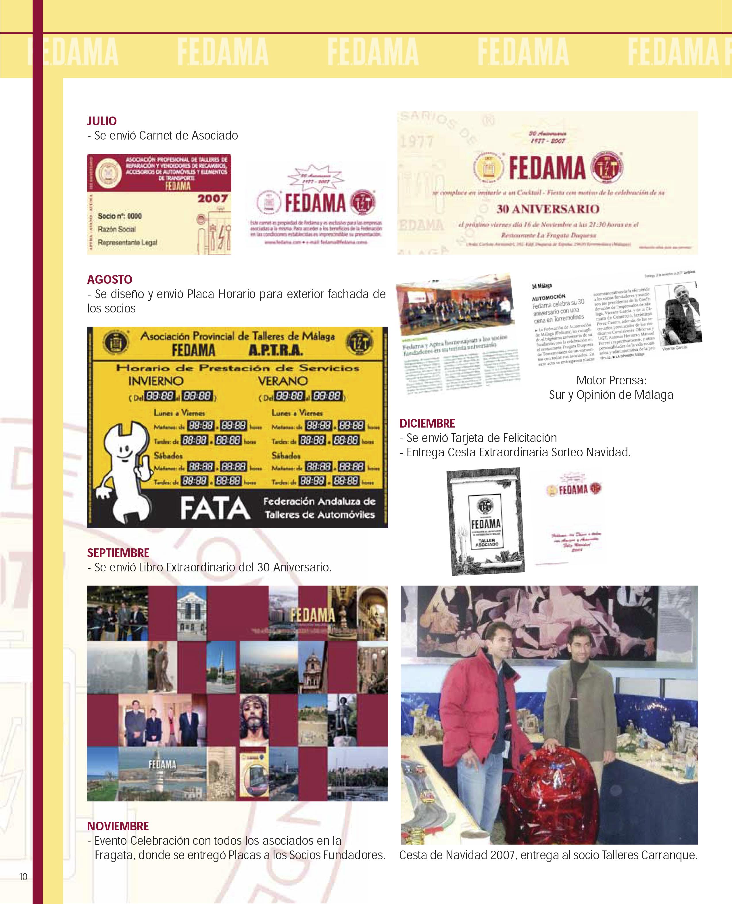 30 Aniversario Fedama Aptra 2007 Federaci N De Empresarios De  # Muebles Fecama Sl